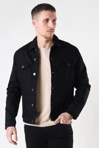 Dave Black Night Denim Jacket Black