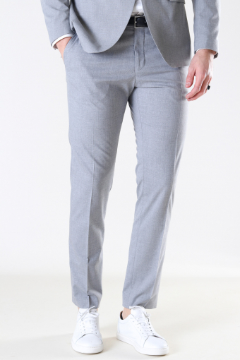 Slim Mylo Logan Pants Light Grey Melange