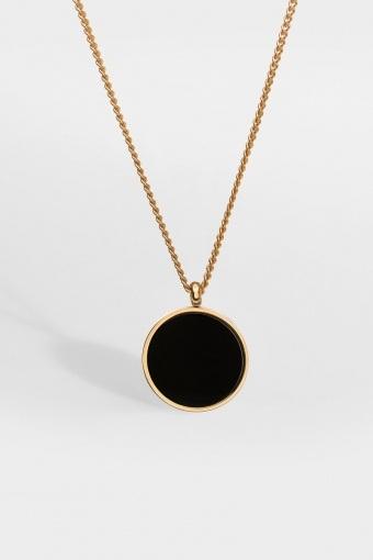 Black Onyx Halskette Gold