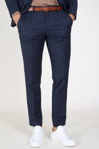 Slim Aden Stripe Hose Grey/Blue
