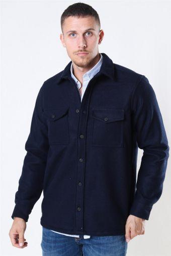 Kurt Wool Overshirt Navy
