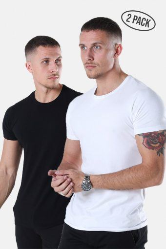 Muscle Fit T-Hemd 2-Pack Black/White
