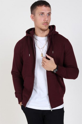 Organic Morgan Zip Sweatshirts Wine Red Mel