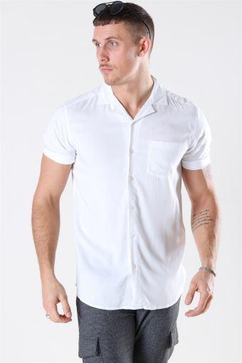 Silo Solid Viscose Hemd White