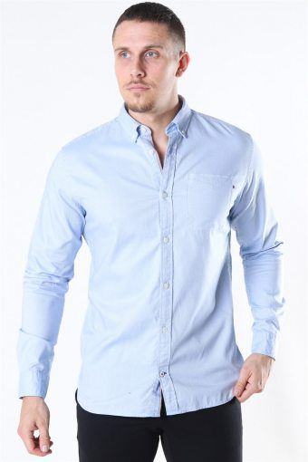 Classic Soft Oxford Hemd LS Cashmere Blue