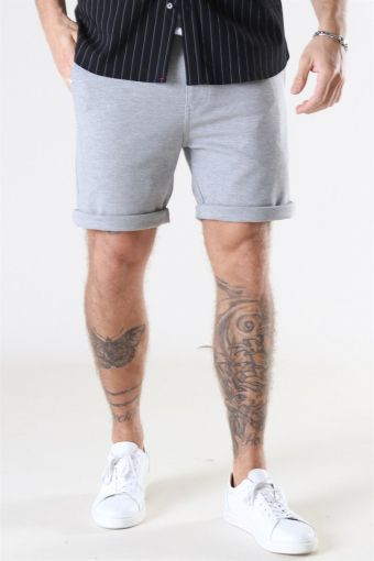 Clean Cut Milano Jersey Shorts Light Grey Melange