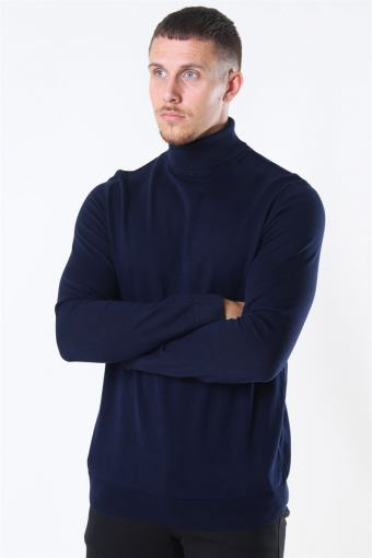Berg Turtleneck Strik Navy Blazer