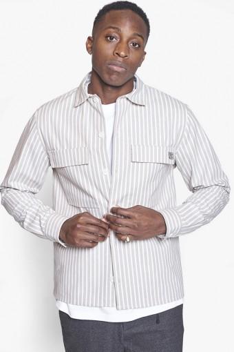 Prize Stripe Hemd Ecru-White