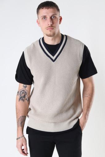 Scoop Knit Vest 006 - Camel