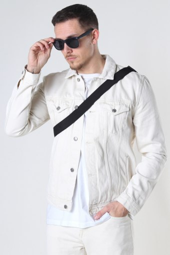 Organic Denim Jacket 127 SAND WASH