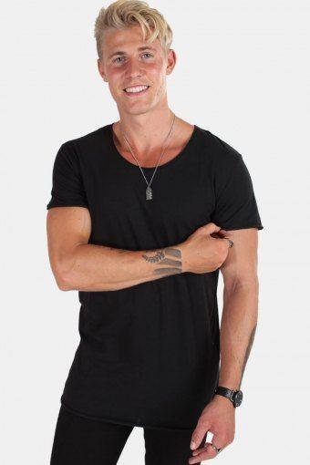 T-shirt Neck Noos Black Detail Reg Fit