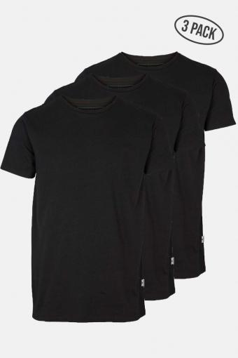 Elon Recycled cotton 3-pack t-Hemd Black/Black/Black