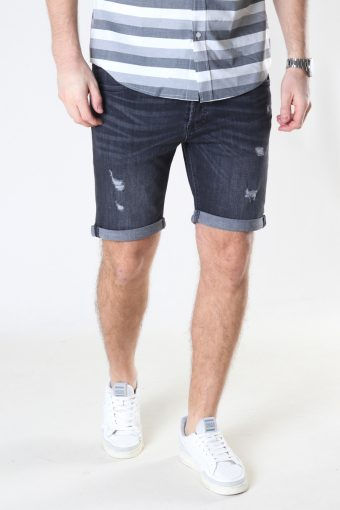 Jjirick Jjoriginal Shorts Agi 200 Black Denim