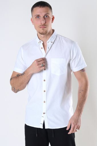 Johan seersucker s/s shirt White