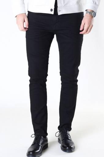 Clean Cut David Slim Stretch Jeans Black Denim