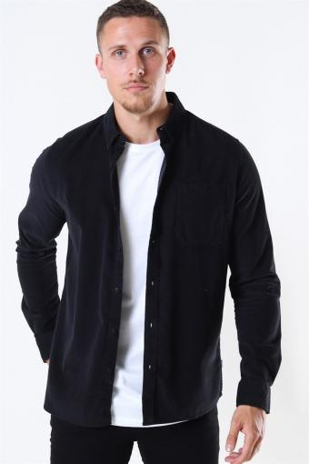 Juan LS Corduroy Hemd Black