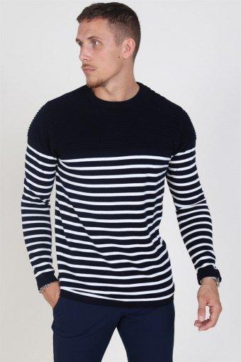 Link Stripe Stricken Navy/Off White