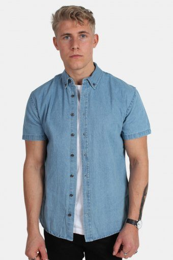 Johan Denim Hemd S/S Light Blue