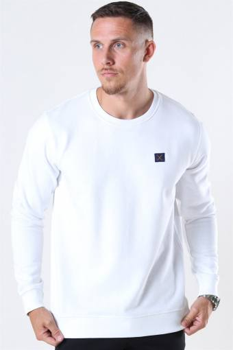 Clean Cut Basic Organic Crewneck White