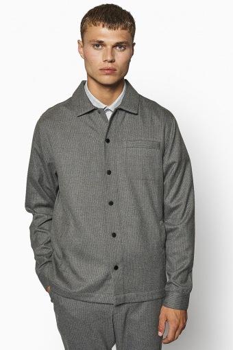 Brenti Pin Shirt Antra Grey