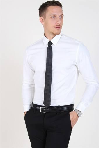 Slim-Michigan LS Hemd Bright White
