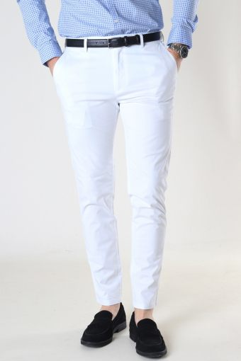 Milano Drake Stretch Pants White