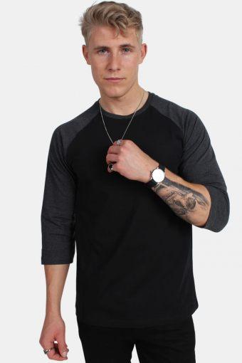 Uhrban Classics TB366 Contrast 3/4 Sleeve Raglan T-shirt Blk/Cha