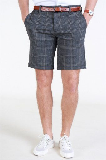 Mark Check Shorts GW 5155 Dark Grey Melange