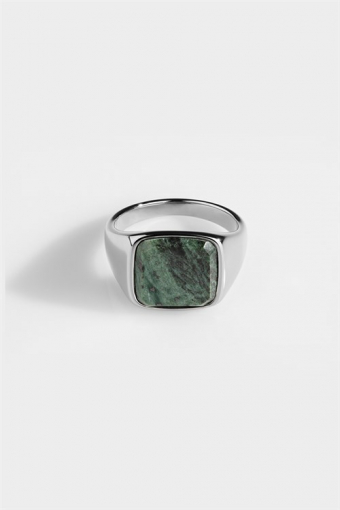 Ring Verde SignatUhre Green Marble Silver