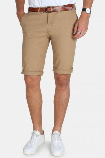 Jonas Stretch Shorts Stone Khaki