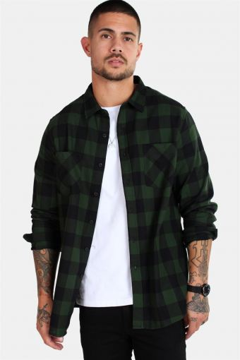 TB297 Checked Flanell Hemd Black/Forest