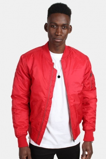 TB861 Basic Bomber Jacke Fire Red