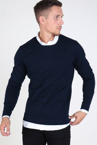 Tailored & Originals Mont O-neck Stricken Insignia Blue
