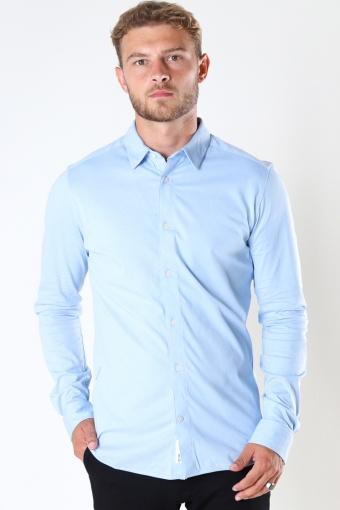 ONSMILES LS STRETCH Hemd Cashmere Blue