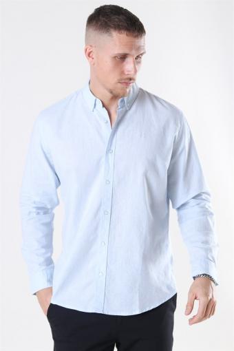 Clean Cut Cotton Linen Hemd Sky Blue