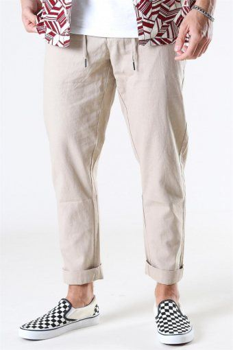 Clean Cut Barcelona Cotton Linen Pants Khaki