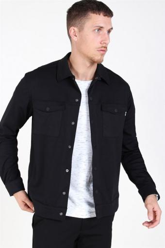 Comfort Stretch Overshirt Black
