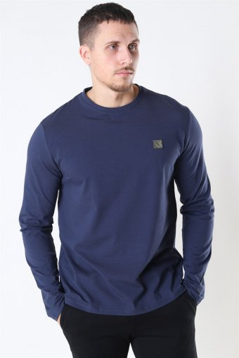 Clean Cut Basic Organic T-shirt LS Navy