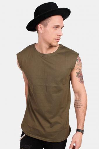 Uhrban Classics TB1562 Open Edge Sleeveless T-shirt Olive