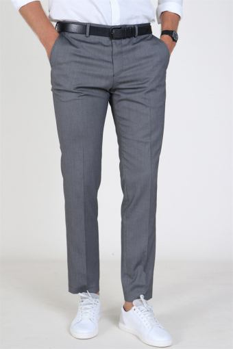 Slim Mylo Logan StructUhre Pants Dark Grey Melange