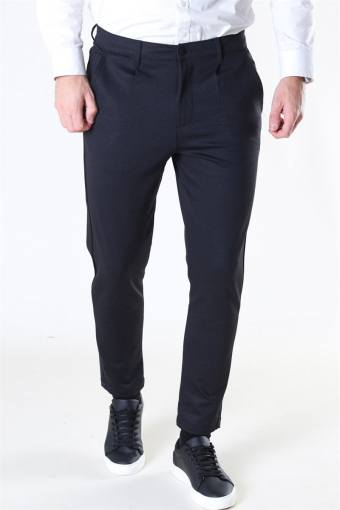 Club Oblique Striped Pants Black