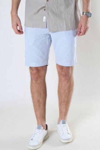 Hector Oxford Stripe Shorts White / Light Blue