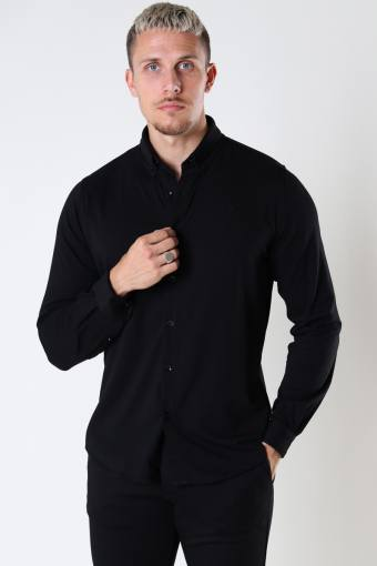 Hudson Stretch Hemd L/S Black