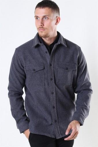 Kurt Wool Overshirt Charcoal