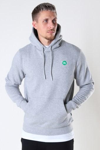 Lars Organic/Recycled hood sweat Grey mel