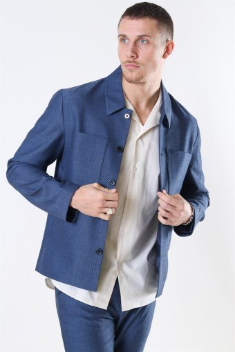 Marseille Herringbone Jacke Dark Navy