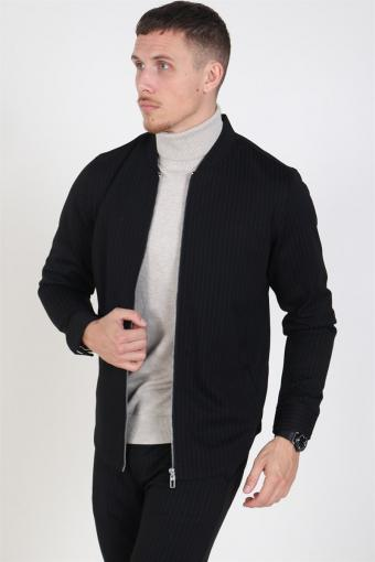 Clean Cut Milano Pinstripe Jacke Black