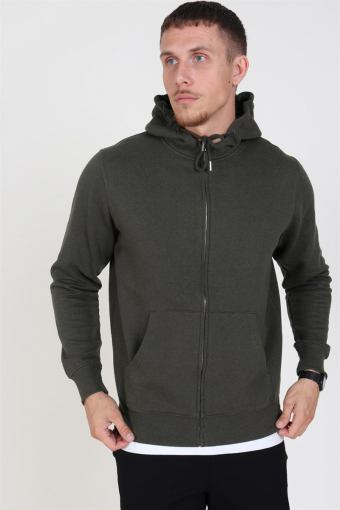 Organic Morgan Zip Sweatshirts Ivy Green Mel