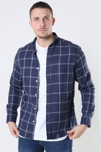 Clean Cut Sälen Flannel 1 Hemd Navy