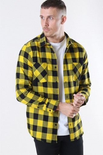 Uhrban Classics TB297 Checked Flanell Skjorte Black/Honey